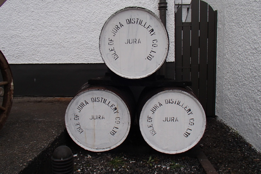 Whisky barrels at the distillery