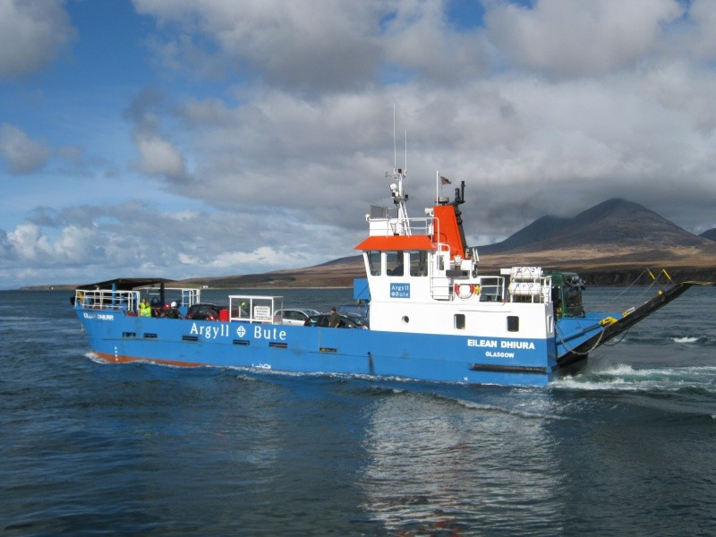 The ferry from Port Askaig on Isaly to Feolin