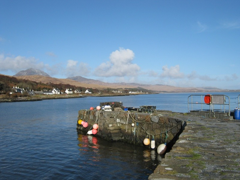 Stone jetty at Craighouse