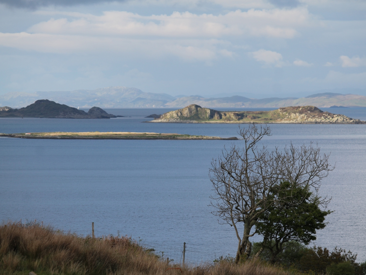 Small Isles Bay and the mainland beyond